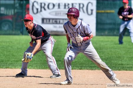May 24, 2018: Grand Forks Red River and Grand Forks Central met in the Eastern Dakota Conference baseball tournament played at Charlie Brown Field in Valley City, North Dakota. Red River defeated Central 14-2 in 5 innings. Russell Hons/CSM