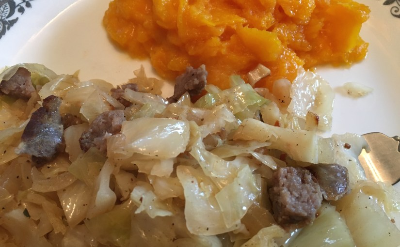 CHEF JEFF: One Byte At A Time — Fried Cabbage With Brats