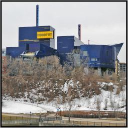"""April 13: I shot this picture of the Guthrie Theater from the stone arch bridge in Minneapolis yesterday before Dorette Kerian and I attended the new play """"Guess Who's Coming to Dinner."""""""