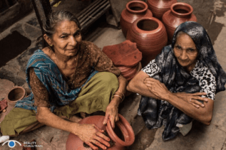 Skilled pottery workers turn out thousands of images a day, for mere rupees — a few pennies. They're sold around the world.