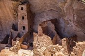 """"""" Square Tower."""" One of the tallest cliff dwelling structures."""