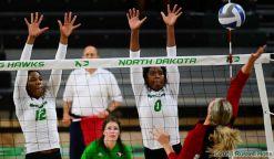 Grand Forks, ND Aug 30, 2018 University of North Dakota Volleyball vs Eastern Washington. North Dakota won the match 3-0. Photo by Russell Hons