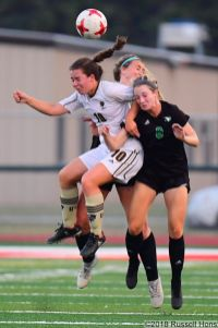 August 8, 2018: An exhibition soccer game between the University of North Dakota Fighting Hawks and the University of Manitoba Bisons at East Grand Forks Senior High School in East Grand Forks, MN. UND defeated Manitoba 5 to 1. Russell Hons