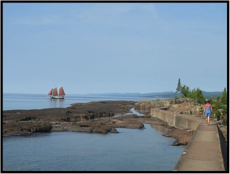 Waterfront at the town of Grand Marais, Minn.