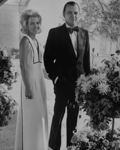 Kay and Ben Fortson at the Kimbell Art Museum opening in 1972.