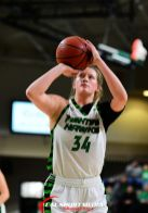January 13, 2019:North Dakota Fighting Hawks forward Lexi Klabo (34) shoots a free throw in the first half of a NCAA women's basketball game between the Western Illinois Fighting Leathernecks and and the University of North Dakota Fighting Hawks at Betty Engelstad Sioux Center in Grand Forks, ND. Western Illinois won 92-80. Photo by Russell Hons/CSM