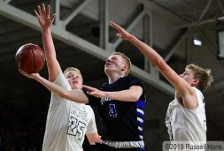 March 5, 2019 2019 NDHSAA Class B, Region 2 Boys Basketball Tournament Semi-Final between Thompson and Hatton/Northwood. All photos can be viewed here: https://bit.ly/2FMqLq1