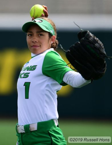 May 5, 2019 The University of North Dakota visited North Dakota State to close out the regular season of Summit League NCAA softball at Tharaldson Park in Fargo, ND. UND won 6-4. Photo by Russell Hons