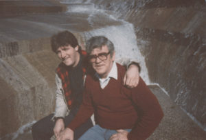With my dad, Myke Madigan, at the Fort Worth Water Garden in the 1980s.