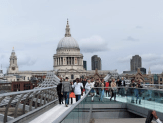 Millennium Bridge, looking toward St. Paul's Cathedral.