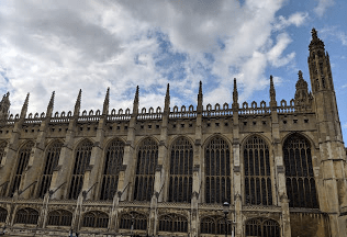 "Another train journey to Cambridge. This is the King's College Chapel. Cambridge was one of my favorite destinations and one felt a little smarter just breathing the air (same in Oxford). This guided tour was my first ""Blue Badge"" tour in England."