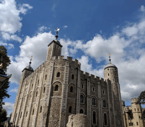 The Tower of London, one of the most fascinating places I visited. Norman Tower, built in the reign of William the Conqueror .