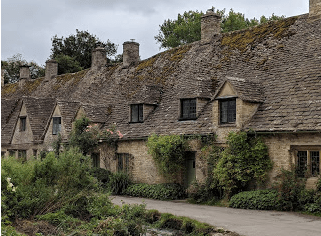 Arlington Row weavers' cottages, Bibury, Cotswolds.