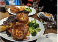 Sunday Roast with Yorkshire Pudding, Windsor.