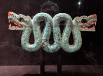 This Aztec turquoise serpent was bigger than my head and one of my favorite British Museum objects.