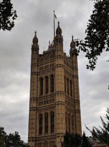 Victoria Tower, Westminster Palace (home of the British Archives).