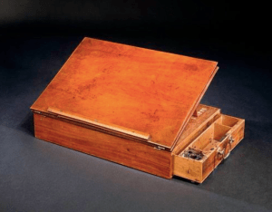 The writing desk on which Jefferson wrote the Declaration of Independence is now in the collections of the Smithsonian Institution.