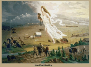 "John Gast's 1872 painting ""American Progress."""