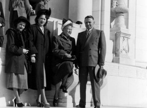 Mom (left) with her in-laws in Washington, D.C., after World War II.