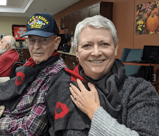 Garland and Lillian Crook, Veterans Day 2019, Mandan, N.D. (Photo by Jim Fuglie)