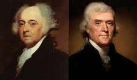 John Adams and Thomas Jefferson: friends, enemies, dear friends.