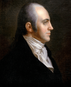 Aaron Burr. Did he pull back from his earlier statement that he would accept the presidency if the Federalist-dominated Congress handed it to him?