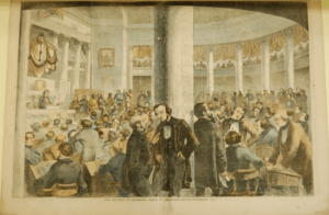 The Electoral College in action. In 1800, Jefferson had 73 electoral votes and Adams just 65. But Aaron Burr, running for vice president, also had 73 votes. What to do?
