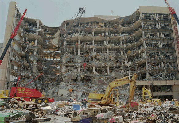 The Oklahoma City bombing of 1995, America's worst act of domestic terrorism.