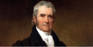 Fourth Chief Justice of the U.S. Supreme Court, John Marshall. (Portrait by Henry Inman,1832.)