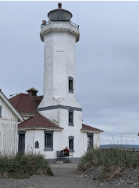 Point Wilson Lighthouse, where my mother's love of lighthouses was sparked (she could see it from her bedroom window).
