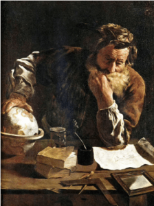 Archimedes, painted in 1620 CE by Domenico Fetti. (Public Domain/ Wikipedia)