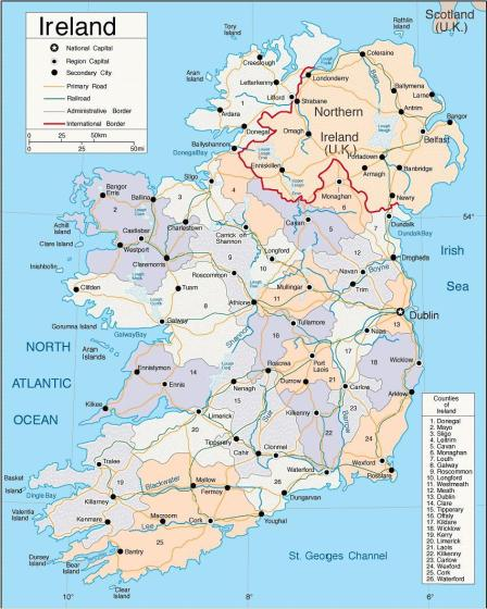 Image result for map of ireland