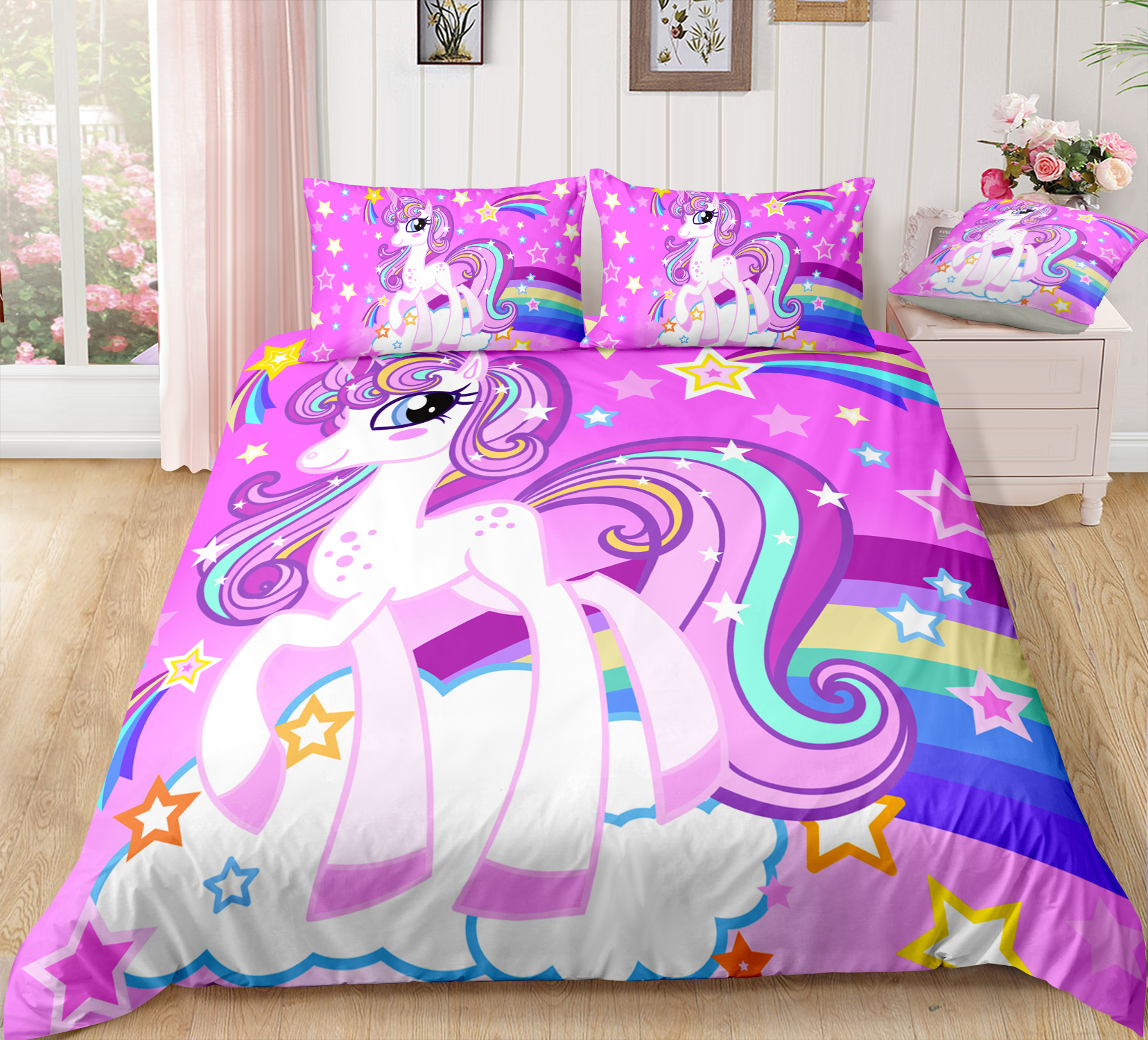 pink cloud bedding set girly twin full queen king comforter cover set for teen