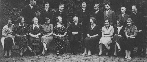 Kollegium des Deutschen Realgymnasiums in Den Haag im Jahr 1937