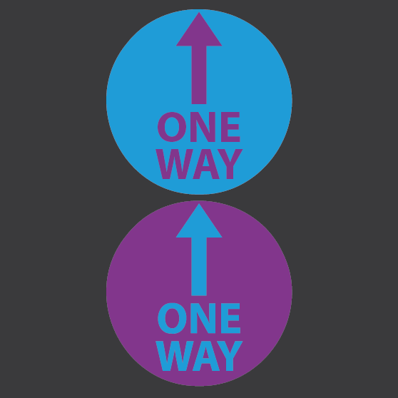 SOCIAL DISTANCING IMAGES Artboard 11 - One Way System Marking