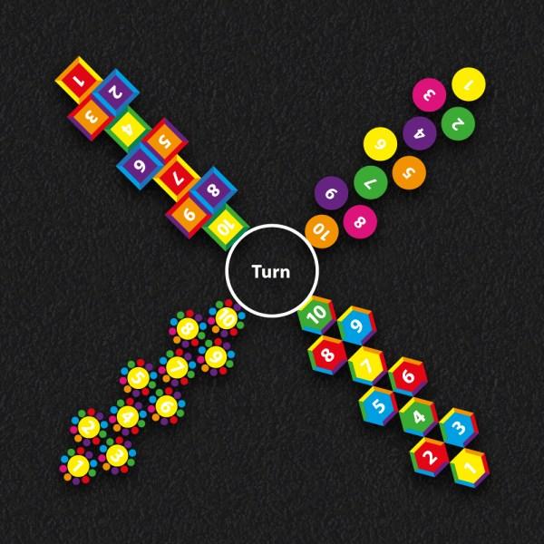 4 way Hopscotch multi new - 4 Way Hopscotch