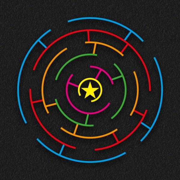 Circular Maze Multi Coloured 1 - Circular Maze