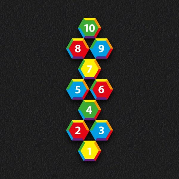 Hexagon Hopscotch 2 - Hexagon Hopscotch