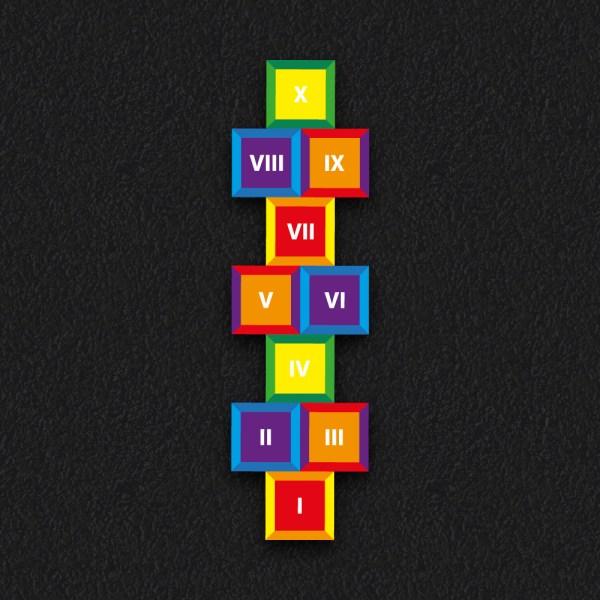 Hopscotch Roman Numeral 1 - Roman Numeral Hopscotch