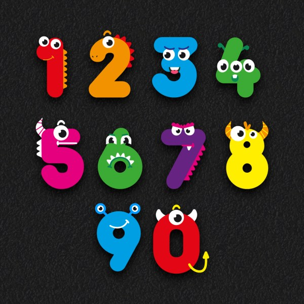 number faces - 1-10 Number Faces