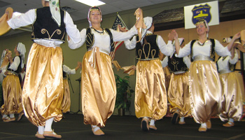Image of Bosnian folk dancers from KUD Kolo of Waterloo