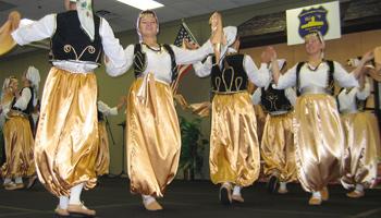 Image of Bosnian folk dancers from KUD Kolo of Waterloo