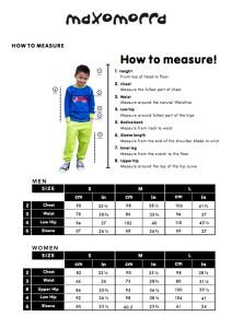 Maxomorra 2015 size chart adult