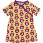 Wrapover toddler dress in Babushka print by Maxomorra