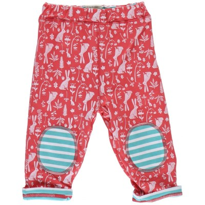 Piccalilly organic cotton bunny rabbits hares reversible trousers