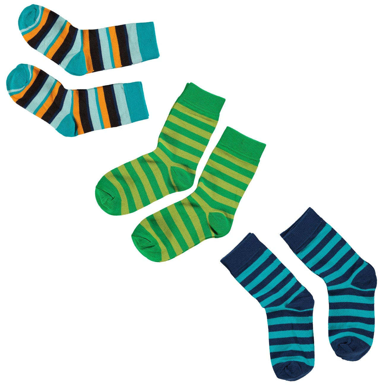Maxomorra organic cotton stripy socks for children – 2 ...