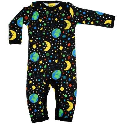 DUNS Sweden mother earth black organic sleepsuit