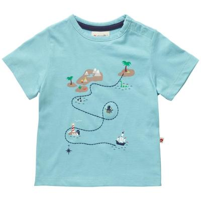 Piccalilly organic cotton treasure map t-shirt fence