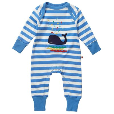 Piccalilly organic whale playsuit
