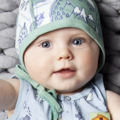 Going for a Ride-Little World baby bonnet
